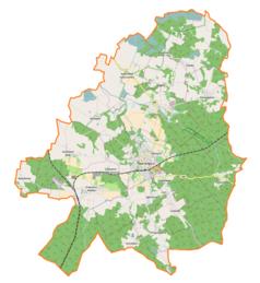 Mapa lokalizacyjna gminy Twardogóra