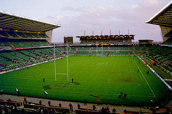 Twickenham Rugby Ground. The small South Stand...