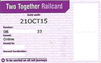 Two Together Railcard - Two Together Railcard (online issue)