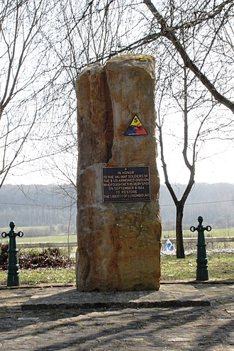 5th Armored Division (United States) - Memorial to the 5th Armored Division in Bertrange, Luxembourg.