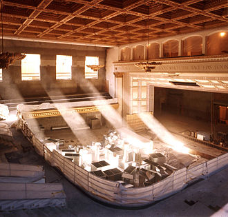 Royce Hall - Auditorium during the Seismic Renovation, 1995