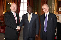 UK Foreign Secretary William Hague and UK Foreign Office Minister Henry Bellingham meeting Prime Minister of Zimbabwe Morgan Tsvangirai in London, 21 March 2012. (6857434260)