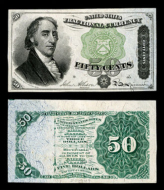 Samuel Dexter - Dexter depicted on US fractional currency