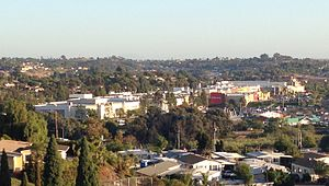 Westfield Plaza Bonita - View over Westfield Plaza Bonita from La Vista Cemetery