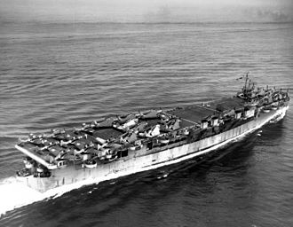 USS Cowpens (CVL-25) - Image: USS Cowpens (CVL 25) underway at sea on 17 July 1943 (80 G K 74271)