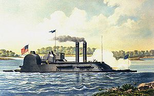 Contemporary colored lithograph of USS Lafayette