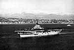 USS Leyte (CVA-32) at anchor, circa in late 1952.jpg