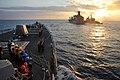 USS McCambell approaches USNS Tippacanoe. (8185235438).jpg