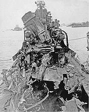 USS Newcomb Damage 1945