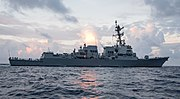 USS Ralph Johnson (DDG-114) during builder's sea trials in the Gulf of Mexico US Navy 170727-N-N0101-001.jpg