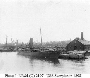 Second Battle of Manzanillo - Image: USS Scorpion (PY 3)