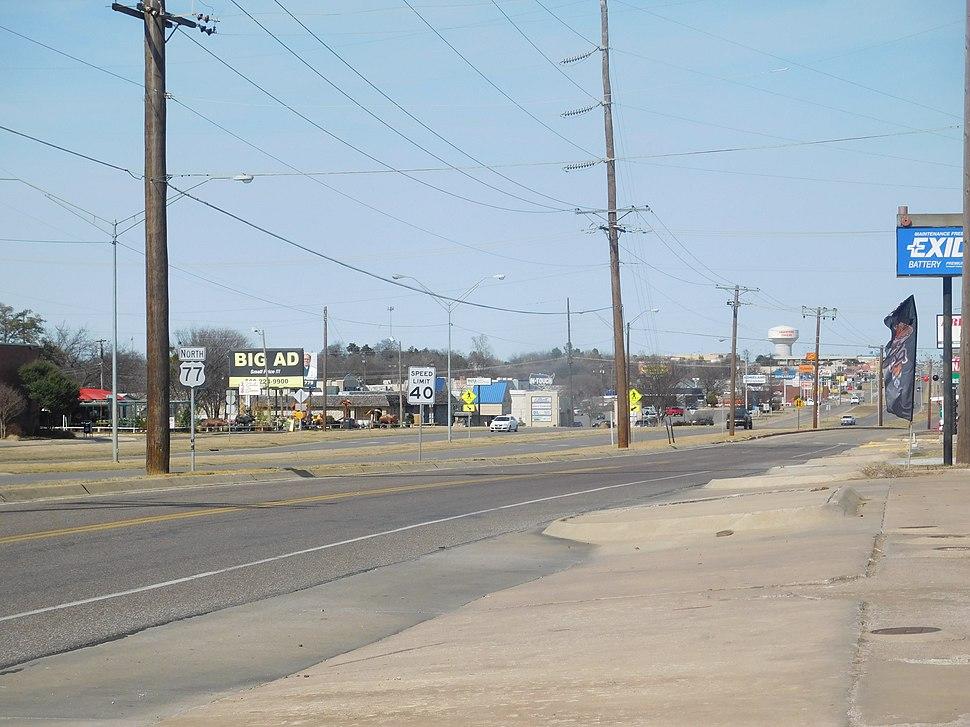 US 77 in Ardmore OK