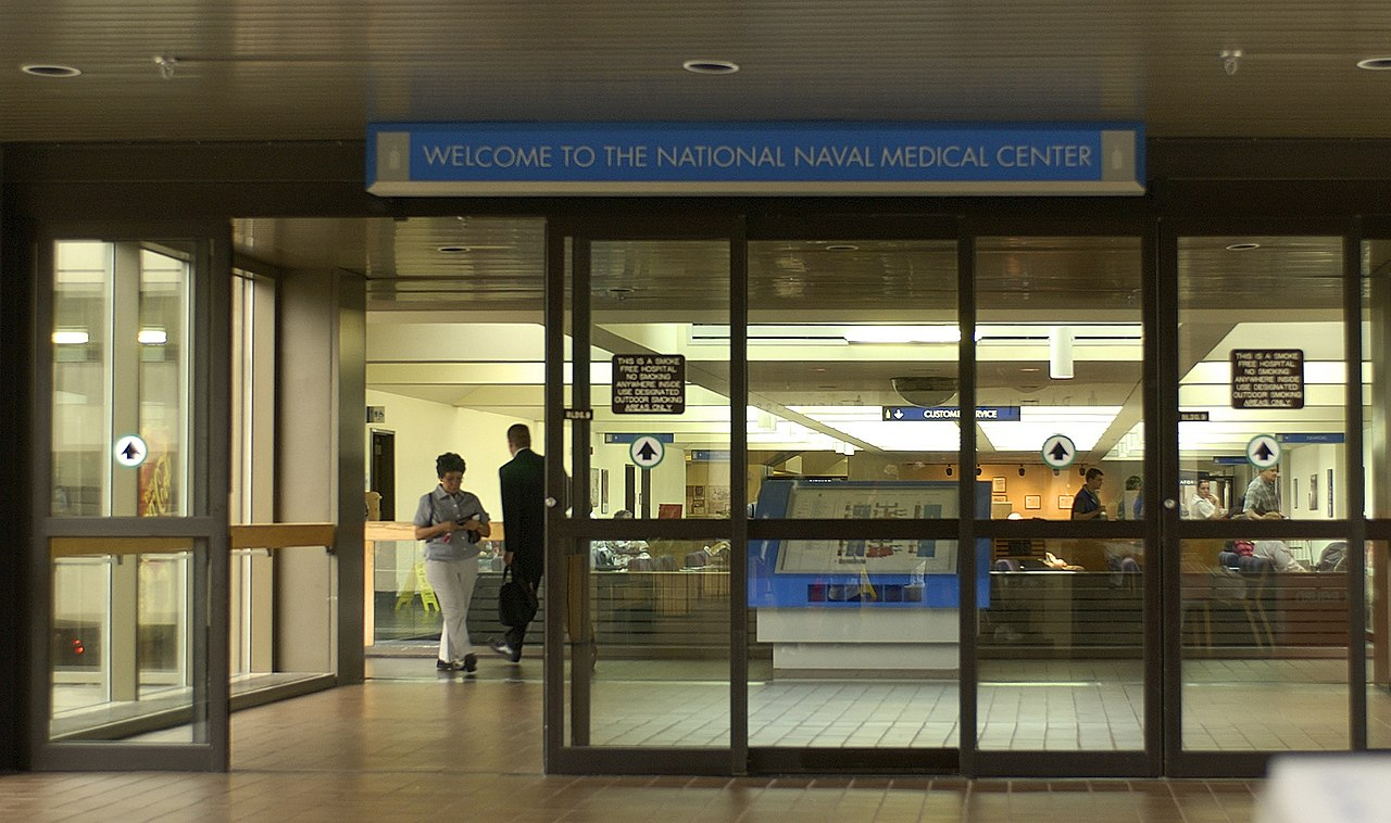 The United States of the Solar System: A.D. 2133 (Book One) - Page 4 1280px-US_Navy_030618-N-9593R-003_This_view_shows_the_interior_entrance_of_the_National_Naval_Medical_Center,_Bethesda,_which_first_opened_February_5,_1942