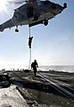 US Navy 031209-N-5319A-004 Sailors from Explosive Ordnance Disposal Mobile Unit Six (EODMU 6) fast rope out of a HH-60H Seahawk helicopter.jpg