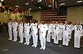US Navy 040723-F-5586B-014 Sailors aboard USS Ronald Reagan (CVN 76) receive the oath enlistment by Deputy Secretary of Defense Paul D. Wolfowitz, Deputy Secretary of Defense reenlist them.jpg