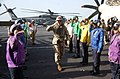 US Navy 051229-N-7241L-001 Side boys are rendered as Chairman, Joint Chiefs of Staff, U.S. Marine Corps Gen. Peter Pace, arrives aboard the Nimitz.jpg