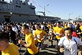 US Navy 090815-N-7280V-338 Sailors assigned to the amphibious command ship USS Blue Ridge (LCC 19) and sailors from the Republic of Korea Navy begin the Friendship 5-kilometer run.jpg