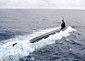 US Navy 091117-N-6720T-059 The Seawolf-class attack submarine USS Connecticut (SSN 22) is underway in the Pacific Ocean.jpg