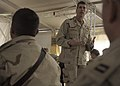 US Navy 100109-N-9584H-133 Rear Adm. Mark Handley addresses the questions and concerns of Seabees during an all hands call at Kandahar Airfield.jpg