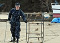 US Navy 110314-N-MU720-074 Information Systems Technician 2nd Class Lance Foster, from Garland, Texas, assigned to Naval Air Facility Misawa, remov.jpg