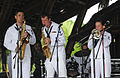 US Navy 110609-N-EP471-600 Members of the U.S. Fleet Forces Band performs at Tumaco Beach during Continuing Promise 2011.jpg