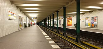 Kaiserdamm (Berlin U-Bahn) - Platform view of Kaiserdamm