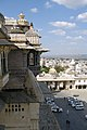 Udaipur, India, Intricate architecture of the Udaipur City Palace.jpg