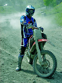 Umar Khan riding motocross