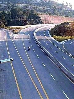 Hazara Motorway road in Pakistan