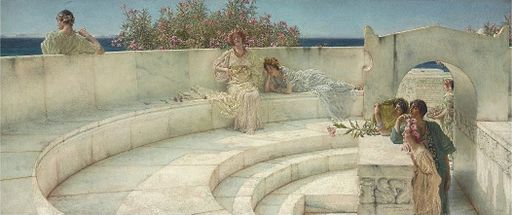 Under the Roof of Blue Ionian Weather, Sir Lawrence Alma-Tadema