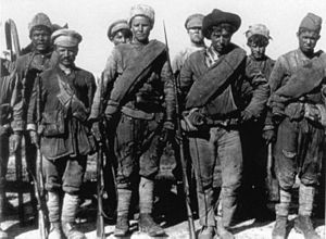 Russian Civil War - Russian soldiers of the anti-Bolshevik Siberian Army in 1919