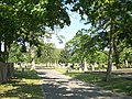 Union Cemetery Sayville (Driveway & Tombstones).JPG