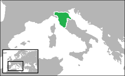 The United Provinces of Central Italy (green)