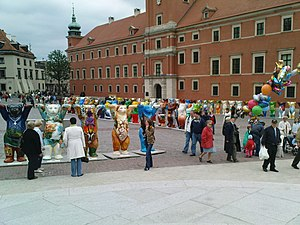 Castle Square, Warsaw - Buddy Bears at Castle Square, 2008