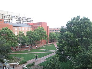 George Washington University School of Business - Image: University Yard GWU from Above