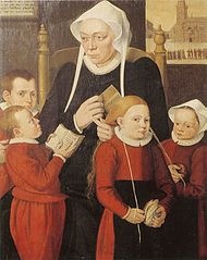 Hilleke de Roy and 4 of her Orphans