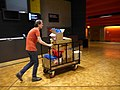 Unloading the Wikimania van at the Barbican 01.jpg