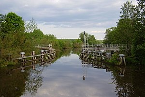 Retractable bridge - The bridge is retracted to the right