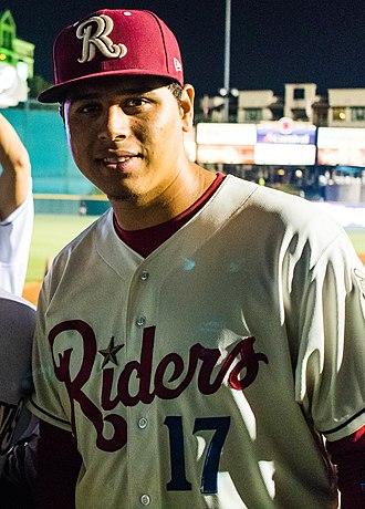 Ariel Jurado - Jurado with the Frisco RoughRiders at the Texas League All-Star Game in 2017