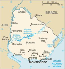 Uruguay - Mappa