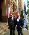 Välisminister Urmas Paet kohtus oma Poola kolleegi Radosław Sikorskiga 4. juunil Varssavis (14320319566).jpg