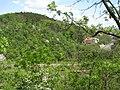 Východní Bohdalec z Tyršova vrchu přes průkop, ulice U plynárny.jpg