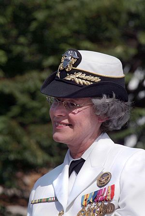 Patricia Ann Tracey - Vice Admiral Tracey at her retirement ceremony, September 2004