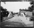 VIEW OF ELEVATION, LOOKING WEST - Spring Street Bridge, Spanning Duncan Creek, Chippewa Falls, Chippewa County, WI HAER WIS,9-CHIFA,2-1.tif