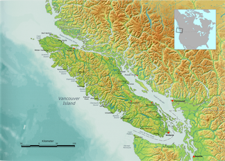 Vancouver Karte.Vancouver Island Ranges Wikipedia