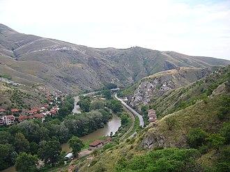 Vardar - Image: Veles Gorge Vardar Macedonia