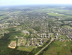 Velsk - Aerial view of Velsk