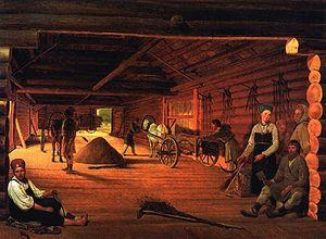 Threshing floor - Threshing Floor by Alexey Venetsianov, 1821-1823