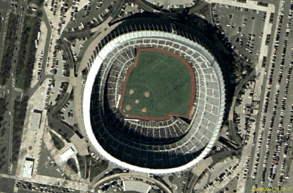 Veterans Stadium satellite view