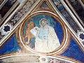 Via angelica, cappella di s. pietro martire, volta con evangelisti dell'inizio del xv sec. 04.JPG
